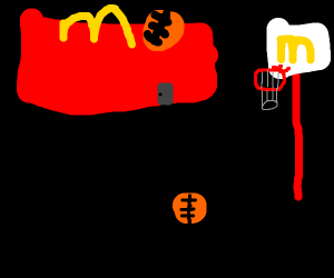 Basketball theme restaurant
