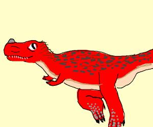 red ceratosaurus