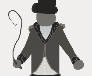 Old-Timey Circus Ringleader with a whip