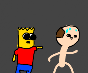 bart simpson harasses innocent man