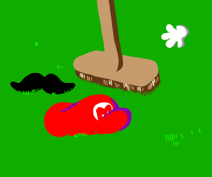 Mario died, we have to sweep up his remains