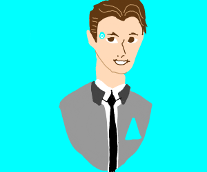 Connor, the android sent by Cyberlife