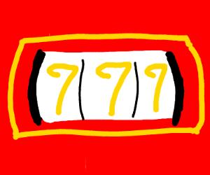 triple 7's on a slot machine