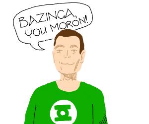 Sheldon does a bazinga