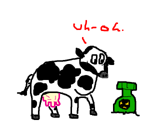 Poor Jeffery the cow will be exploded by bomb