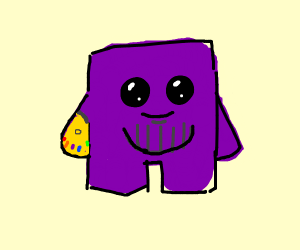 thanos in style of meatboy