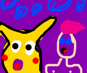 Pikachu and Pink-hair Anime Man are in love