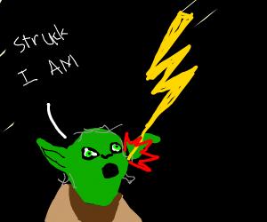 yoda gets struck by lightning