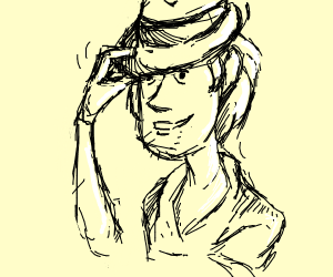 Shaggy tipping his fedora