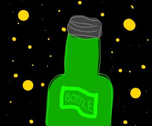 Bottle in space