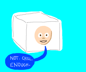 Some guy in a cube of ice is not chill enough