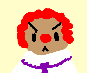 Creepy clown!