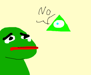 Pepe gets rejected by the iluminati