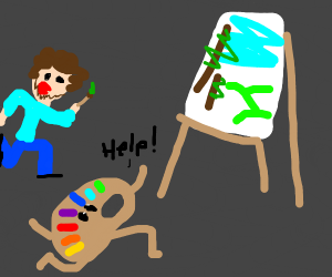 Palette escaped Bob Ross and it asks for help