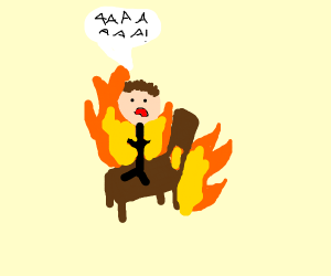 Burning chairs and people