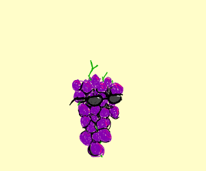 Grape with Glasses