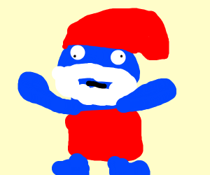 Old, Creepy Smurf