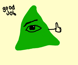 Illuminati gives you an encouraging thumbs up