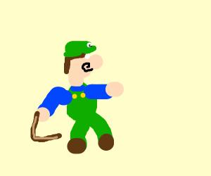 Luigi with a Boomerang