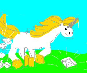 unicorn pooping diamonds