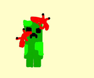 minecraft creeper getting attacked by scrabs
