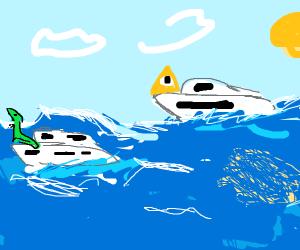 Illuminati and Lizard on a yacht race