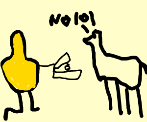 Mustard gaz proposing to a Llama