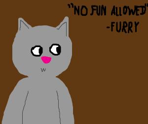 """No fun allowed"" - Furry"