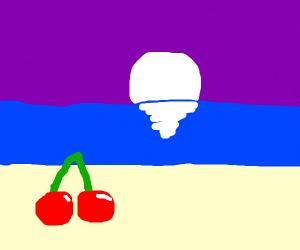 Beach day for cherry