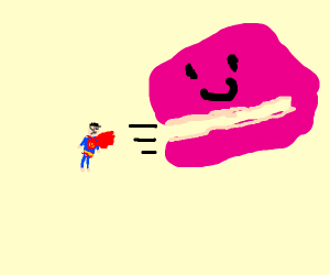 superman consumed by blobfish