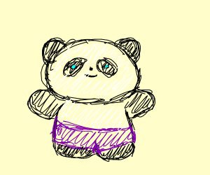 Panda in Purple pants!