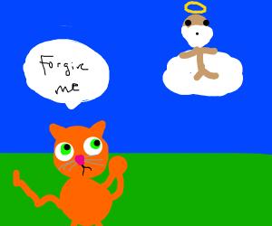 cat begs God for forgiveness