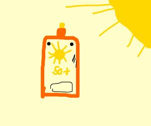 Scared Sunscreen