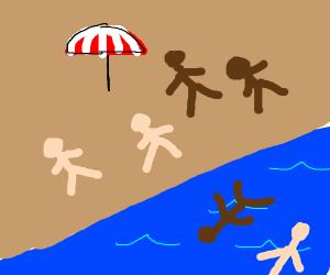 the beach :)