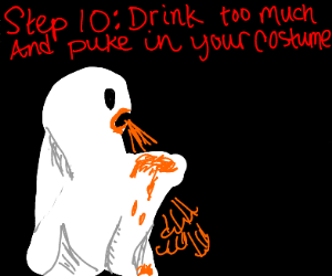 step 9: have spooky ghost party in mansion