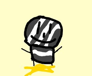gray/white stripe man standing on a star