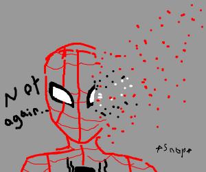Thanos dusts spiderman again