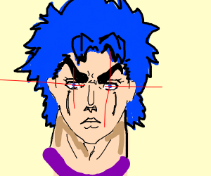 Johnathan Joestar shooting fire out of eyes