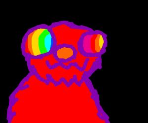 Elmo ate too many Skittles