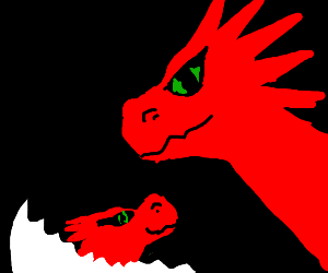 dragon with dragon baby
