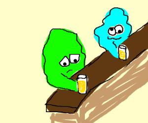 blobs at a bar