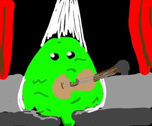 Goo monster plays guitar