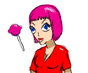 Female Anime Candy Shop Owner