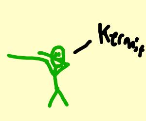 kermit commiting the dab