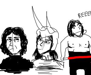 Snape,Kylo Ren, and Loki
