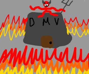The dmv: but worse!