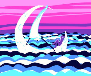 Sailing in the moon