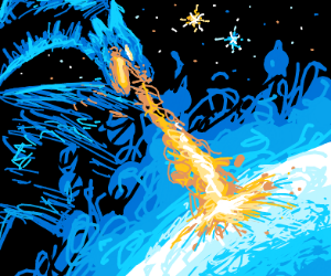 blue dragon annihilating Uranus