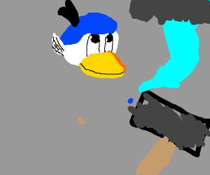 Donald Duck goes full Thor