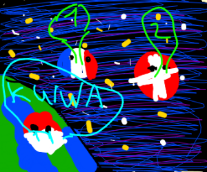 country balls racing into space